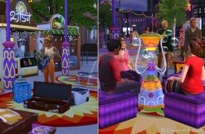 Площадка для выступлений и пускание пузырей
