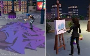Граффити и рисование на мольберте