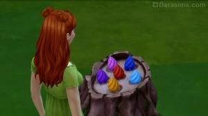 Пень с волшебными бобами в испытании Симс 4