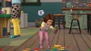 Малыш пачкает пол в The Sims 4 Родители