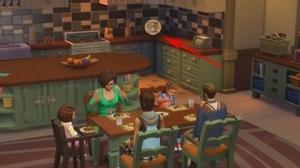 семейный обед в симс 4 родители