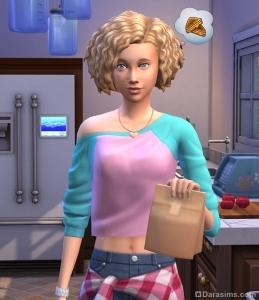 симка берет ланч с собой в школу в The Sims 4 Родители