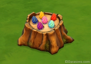 Волшебный пень с бобами в The Sims 4