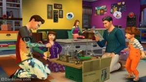 Симы работают над проектами в The Sims 4 Родители