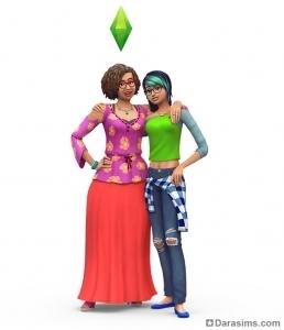 Сим-подросток с мамой в The Sims 4 Родители