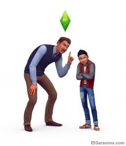 Сим ругает ребенка в The Sims 4 Родители