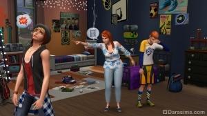 Мама наказывает своих детей в The Sims 4 Родители