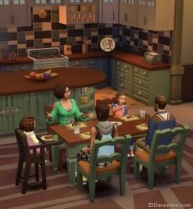 сервировка стола в The Sims 4 Родители