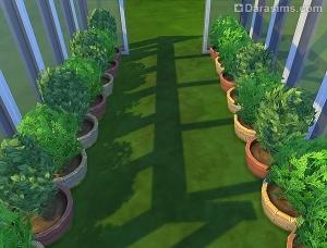 круглые садовые горшки