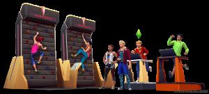 Скалодром в «The Sims 4 Фитнес»