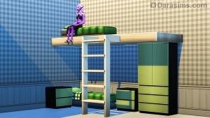 Двухэтажная кровать с лестницей