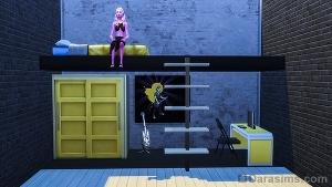 Подвесная кровать с лестницей