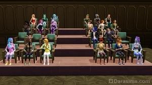 Аудитория-амфитеатр в Симс 4