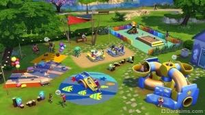 Детская площадка в The Sims 4 Детские вещи