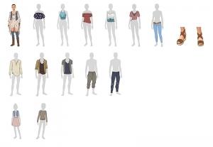 Выбранная одежда для эко-каталога
