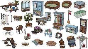 The Sims 4 Стирка: картинка с финальным набором предметов