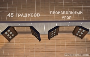 Угол поворота створок в разных методах строительства