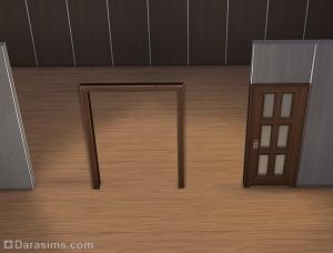 Строительство открытых дверей в Симс 4 (второй способ)