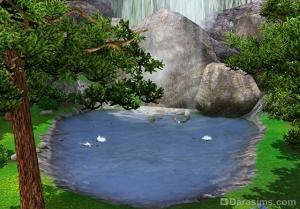 Водопады Хидден Спрингс в Sims 3 Store