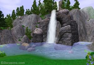 Двухуровневые водопады Луи