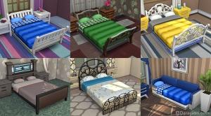 отделка кроватей в симс 4