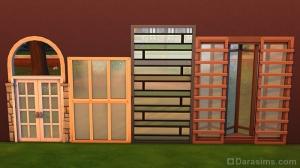 комбинирование окон и дверей