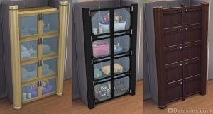шкафчики из калиток для симс 4