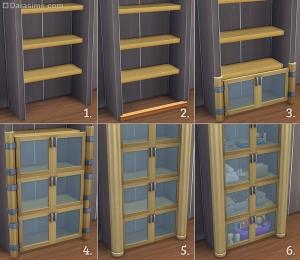 декоративные шкафы из калиток