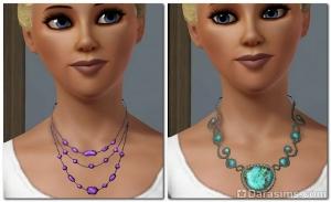 Ожерелья с камнями