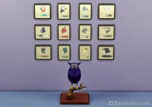 Коллекция перьев и птица в The Sims 4