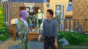Контакт с пришельцами в Симс 4