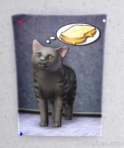 Жареный сыр на постере в Симс 3