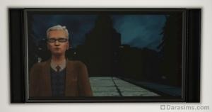Видео из Симс 2 на экране телевизора Симс 3