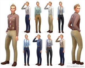 Мужские брюки на подтяжках
