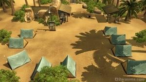 Базовый лагерь с палатками