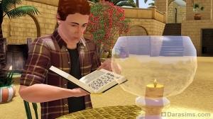 Персонаж читает в Аль-Симаре