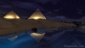 Ночное освещение пирамид в Аль-Симаре