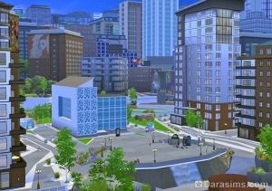 Творческий район Симс 4 Жизнь в городе