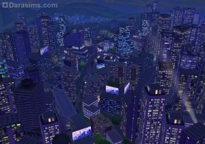Ночной вид города Сан Мишуно