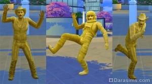 Живая статуя в The Sims 4 City Living