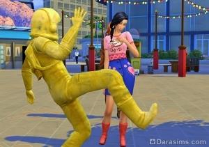 Флиртовать с живой статуей