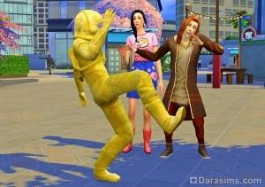 Дразнить живую статую
