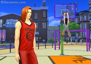 Баскетбол в The Sims 4 City living