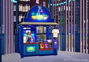 Фестивальный киоск с сувенирами