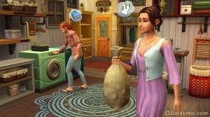стирка в The Sims 4 День стирки