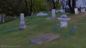 Надгробия рядом с поместьем Штрауда