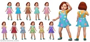 Сарафан поверх футболки для девочек