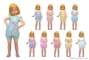 Платье с шортами для девочек