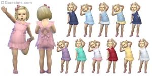Платье без рукавов с бантиками для девочек