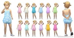 Комбинезон без рукавов для девочек